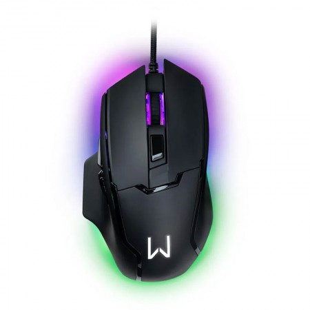 Mouse USB Gamer Rainbow Gunter Led Warrior com 6 botões 6400DPI - MO297 - Multilaser