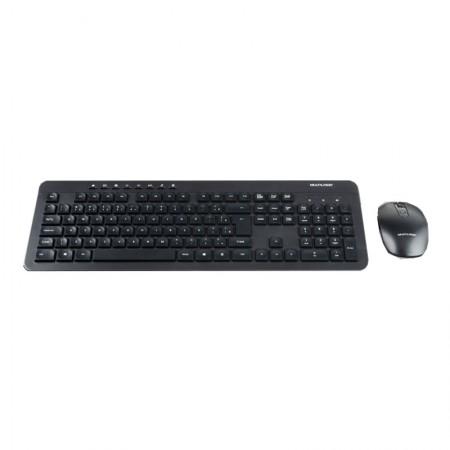 Teclado e mouse sem fio 2.4 USB preto - bateria recarregável - TC250 - Multilaser