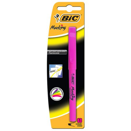 Pincel marca texto Marking rosa - com 1 unidade - Bic