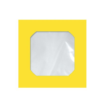 Envelope saco c/janela p/CD amarelo Cmd105 125x125mm blister 25und Scrity