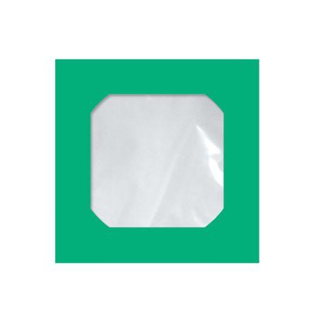 Envelope saco com janela para CD - verde - Cmd103 125x125mm - blister com 25 unidades - Scrity