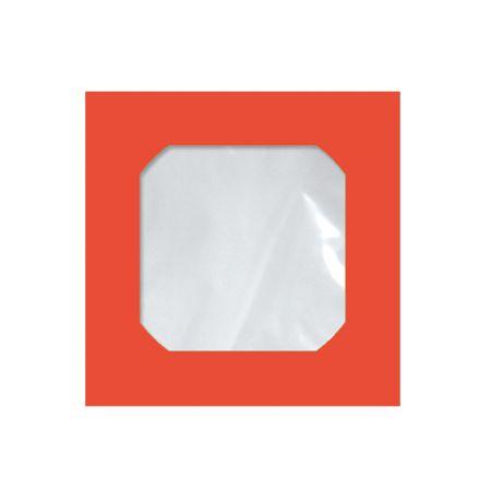 Envelope saco c/janela p/CD vermelho Cmd104 125x125mm blister 25und Scrity