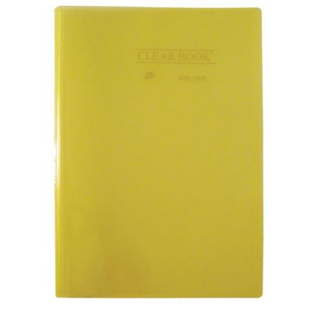 Pasta catálogo transparente - amarelo - BD10S - com 10 plásticos - Yes