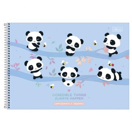 Caderno espiral capa dura cartografia - 80 folhas - Lovely friend - Capa 1 - Tilibra