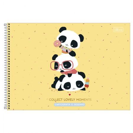 Caderno espiral capa dura cartografia - 80 folhas - Lovely friend - Capa 2 - Tilibra