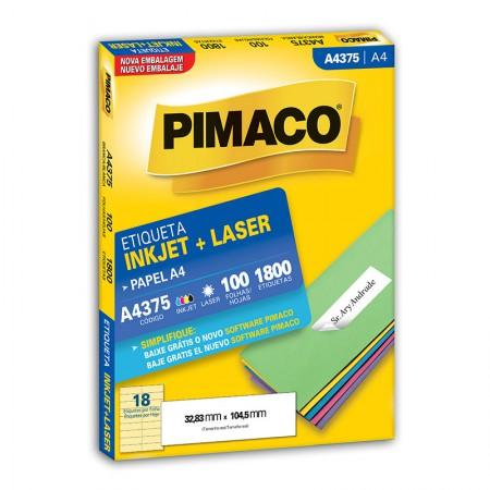 Etiqueta inkjet/laser A4375 - com 100 folhas - Pimaco