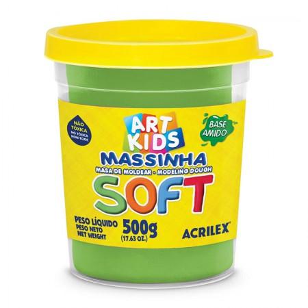 Massa de modelar Soft 500g - Verde 101 - Acrilex