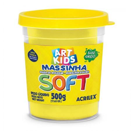 Massa de modelar Soft 500g - Amarelo Limão 102 - Acrilex