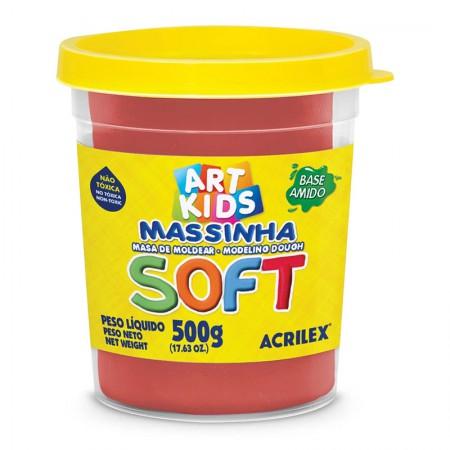 Massa de modelar Soft 500g - Vermelho 103 - Acrilex