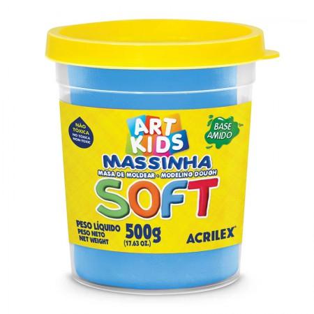 Massa de modelar Soft 500g - Azul 109 - Acrilex