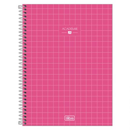 Caderno espiral capa dura universitário 1x1 - 80 folhas - Academie - Lilás pastel - Tilibra
