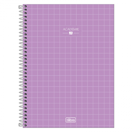 Caderno espiral capa dura universitário 1x1 - 80 folhas - Academie - Verde pastel - Tilibra