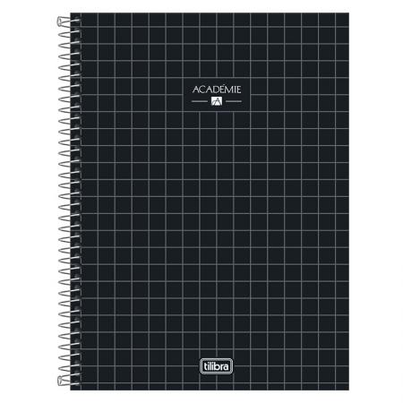 Caderno espiral capa dura universitário 1x1 - 80 folhas - Academie - Roxo - Tilibra