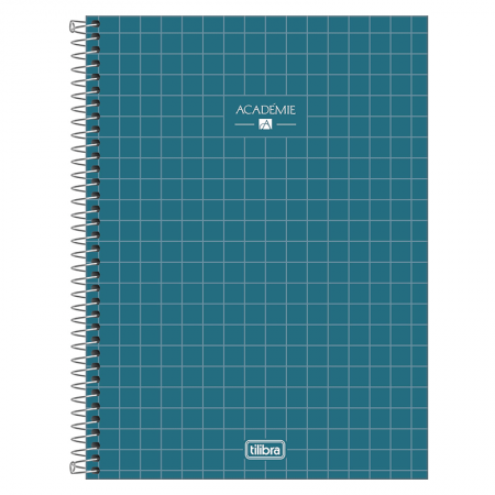 Caderno espiral capa dura universitário 1x1 - 80 folhas - Academie - Cinza - Tilibra