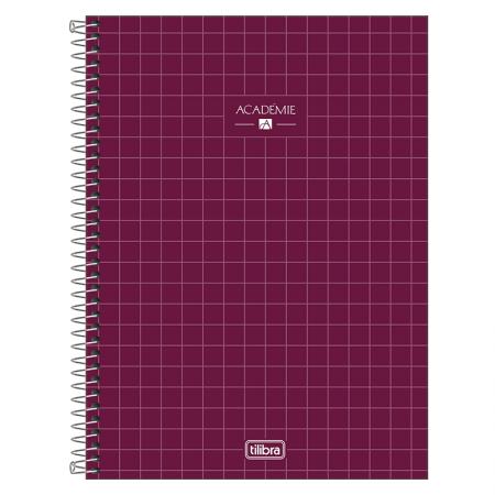Caderno espiral capa dura universitário 1x1 - 80 folhas - Academie - Azul marinho - Tilibra