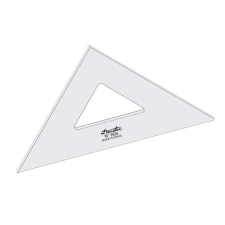 Esquadro acrílico 26cm x 45 graus sem escala 2526 - Trident