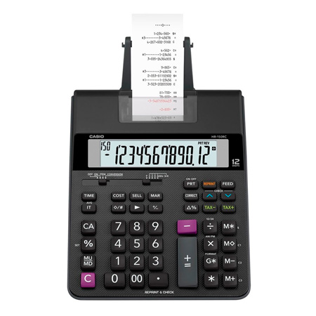 Calculadora de mesa com bobina 12 digitos - HR-150RC - Casio
