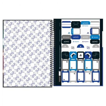 Caderno espiral capa dura universitário 1x1 - 80 folhas - PlayStation - Capa 2 - Tilibra