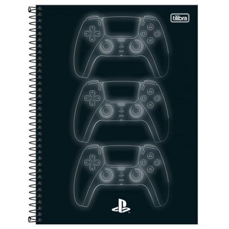 Caderno espiral capa dura universitário 1x1 - 80 folhas - PlayStation - Capa 4 - Tilibra