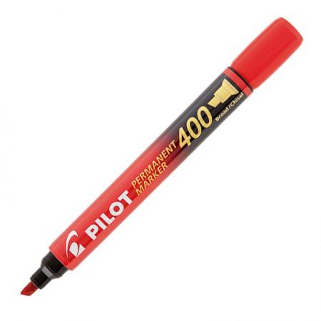 Pincel permanente marker - SCA-400 - Vermelho - ponta chanfrada - Pilot
