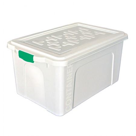 Caixa organizadora box alta com trava - branco - OR-07 - 70,0 litros - São Bernardo