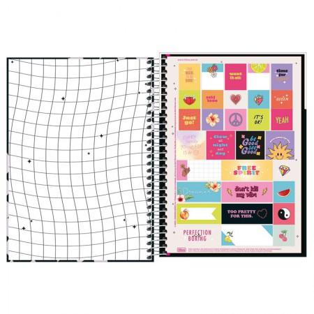 Caderno espiral capa dura 1/4 - 80 folhas - Capricho - Capa 3 - Tilibra