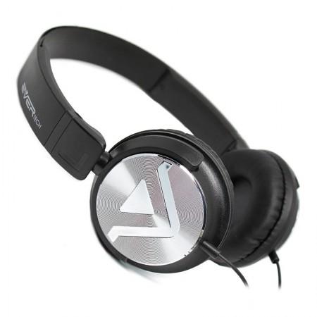 Fone de ouvido com microfone DJ EVHP-20M/BS - Prata escovado - Evertech