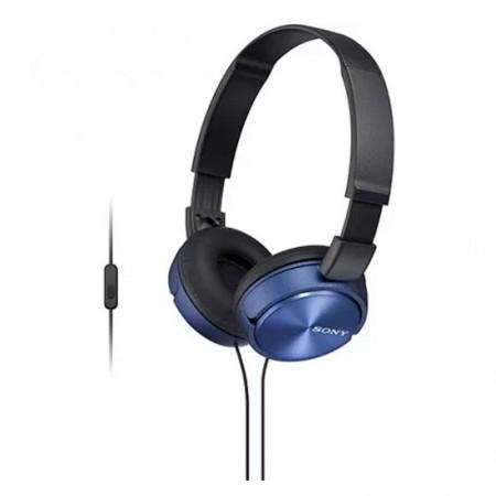 Fone de ouvido com microfone MDR-ZX310AP azul - Sony