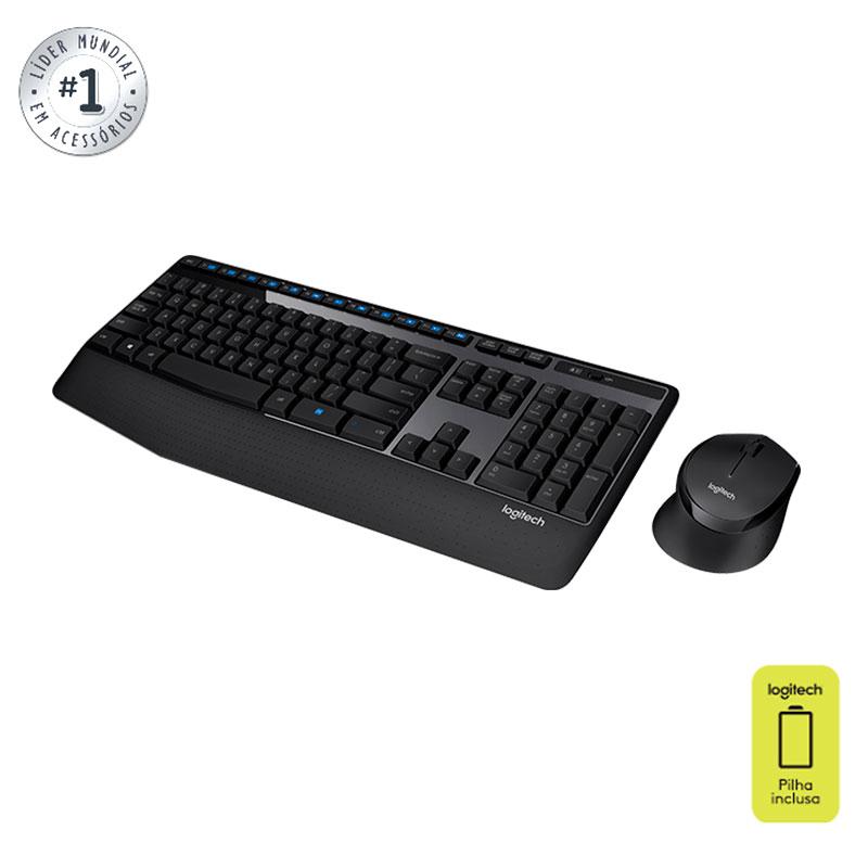 Teclado e mouse sem fio MK345 - Logitech