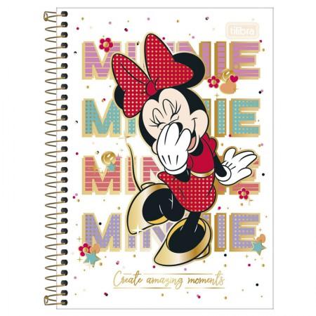 Caderno espiral capa dura 1/4 - 80 folhas - Minnie - Capa 3 - Tilibra