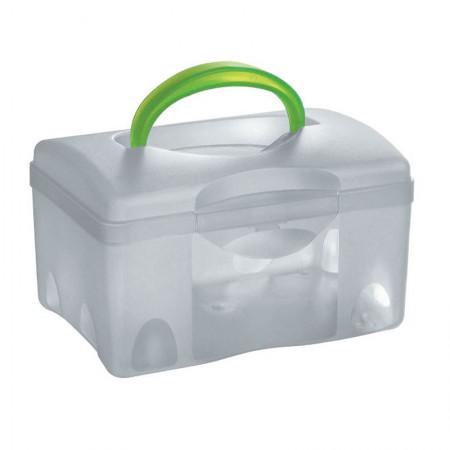 Caixa organizadora box baixa com trava - cristal - C-04 - São Bernardo