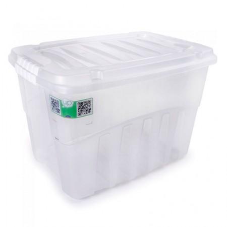 Caixa organizadora Gran Box alta cristal 2760 56L Plasútil