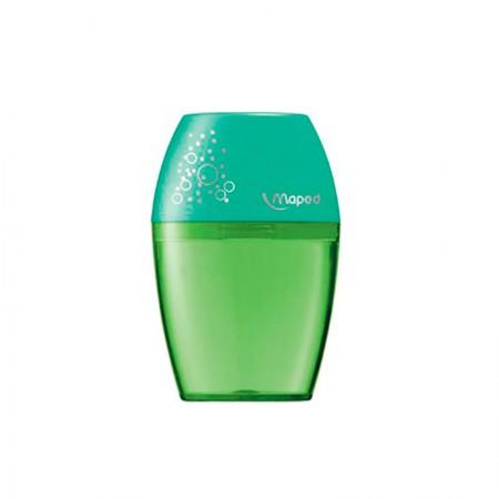 Apontador com coletor Shaker 1 furo - 634753 - Verde - Maped
