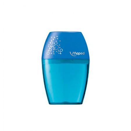 Apontador com coletor Shaker 1 furo - 634753 - Azul - Maped