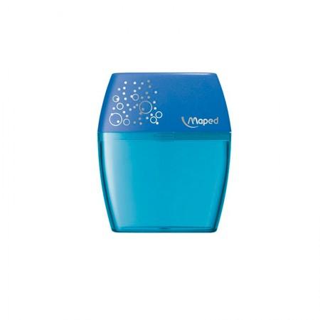 Apontador com coletor Shaker 2 furos - 634755 - Azul - Maped