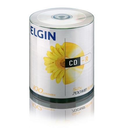 CD-R virgem 700MB 80 minutos - bulk com 100 unidades - Elgin