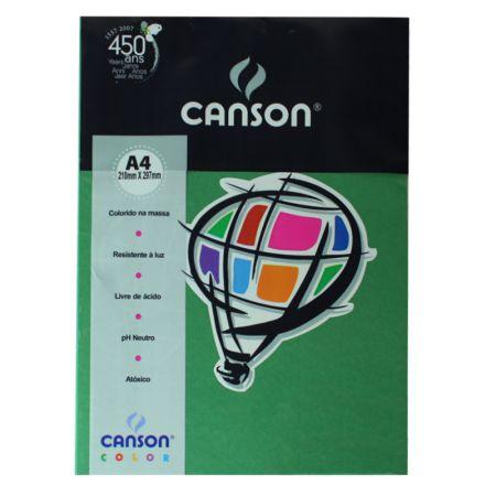 Papel Color Vivaldi A4 120g verde amaz 15fls Canson
