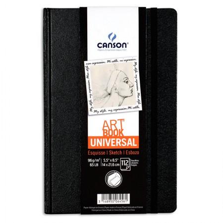 Livro art book croquis one - 14 x 21,6cm - com 112 folhas 96g - Canson