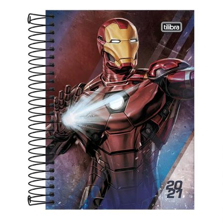 Agenda espiral Os Vingadores 2020 - Homem de Ferro - Tilibra