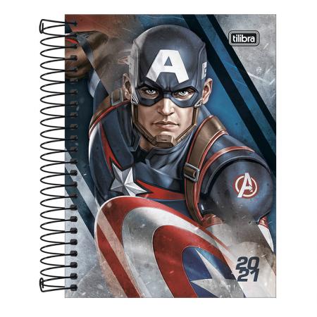 Agenda espiral Os Vingadores 2021 - Capitão América - Tilibra