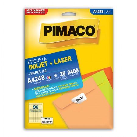 Etiqueta inkjet/laser A4248 - com 25 folhas - Pimaco
