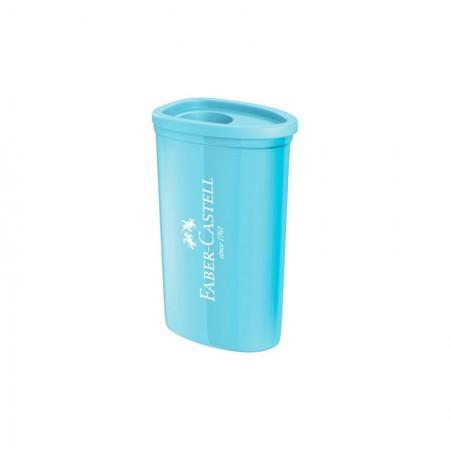 Apontador com coletor triangular azul pastel - com 1 unidade - SM/125TZF - Faber-Castell