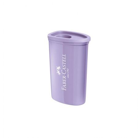 Apontador com coletor triangular lilás pastel - com 1 unidade - SM/125TZF - Faber-Castell
