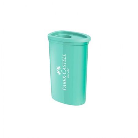 Apontador com coletor triangular verde pastel - com 1 unidade - SM/125TZF - Faber-Castell