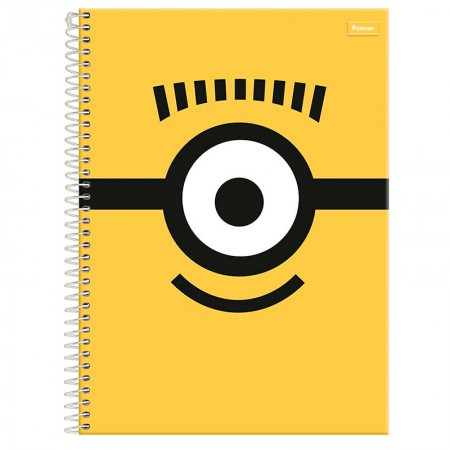 Caderno espiral capa dura universitário 10x1 - 200 folhas - Minions - Capa 3 - Foroni