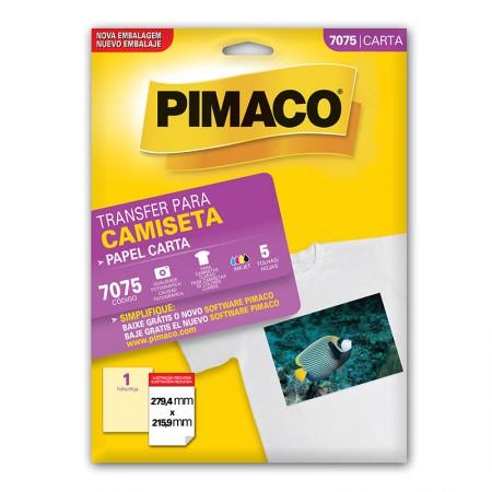 Papel transfer carta - 7075 - com 5 folhas - Pimaco