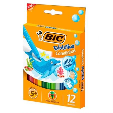 Caneta hidrográfica Evolution - 940599 - com 12 cores - Bic
