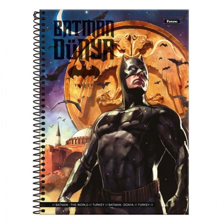 Caderno espiral capa dura universitário 10x1 - 200 folhas - Batman Teen - Capa 3 - Foroni