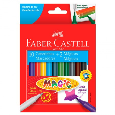 Caneta hidrográfica Magic 10 cores + 2 - 150112MZF - Faber-Castell