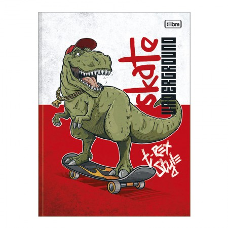 Caderno brochurão capa dura universitário 1x1 - 80 folhas - Raptor - Capa 2 - Tilibra